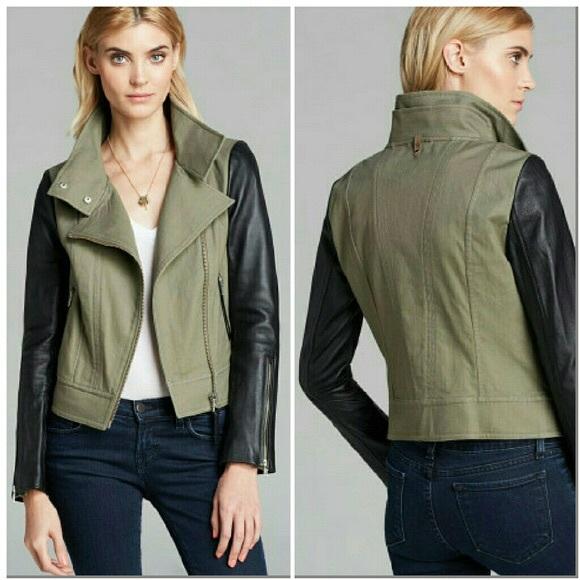 7a54b1a8 Mackage Jackets & Blazers - Mackage Andra Black Green Leather Jacket Coat L